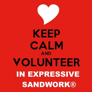 tnb _keep calm and volunteer in expressive sandwork1